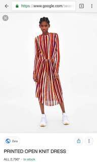 BNWT Zara printed open knit dress