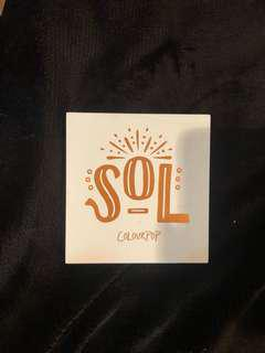 SOL Colourpop Eyeshadow Palette