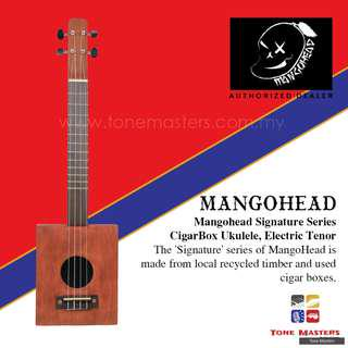 Mangohead 'Signature' Series Electric Tenor Cigarbox Ukulele Natural