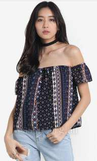 SOMETHING BORROWED OFF THE SHOULDER TOP