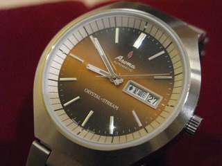 Aroma 古董自動機械錶 漸變黃色面