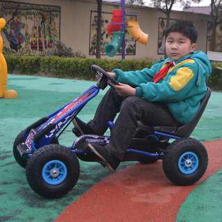 Go Kart Rubber Tires Bike Ride On Pedal Bicycle for Kids