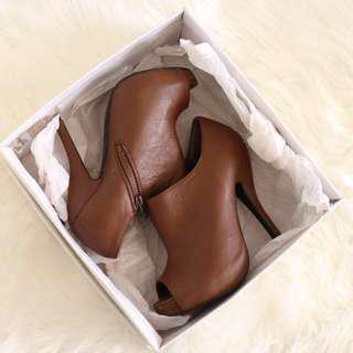 Forever 21 Brown peep toe heels