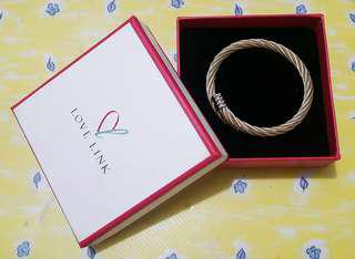 LOVE LINK Bangle in Gold&Silver