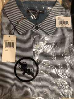 Michael Kors Strip Polo Tee (Size L)