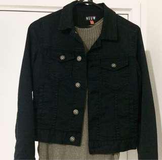 Neuw black denim jacket