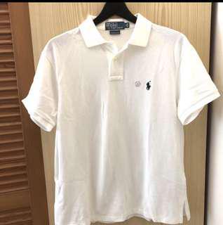 🚚 POLO  Ralphlauren 全新,原價3500,僅試穿 男款白色M號 polo 衫