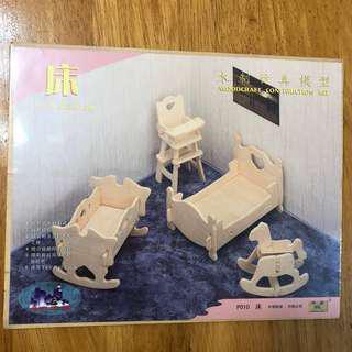 3D Puzzle木製模型玩具