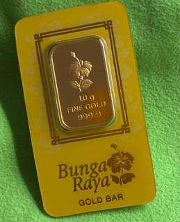 999 Pure Gold Bar - 1 piece of 10 g 💙💚💛🧡❤️