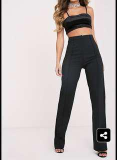 PLT black straight leg pants