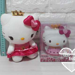Hello kitty coinbank and plush