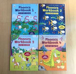 Usborne Phonics Workbook (Level 1-4)