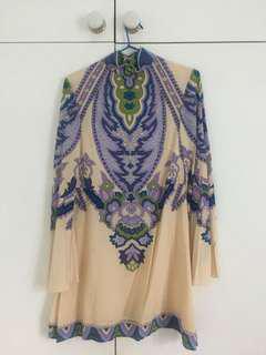 Lenni the Label long-sleeved boho print dress