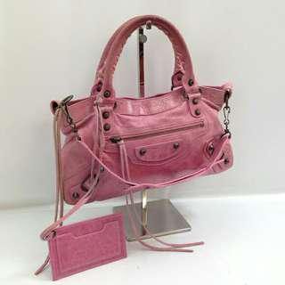 Balenciaga city bag small in Pink