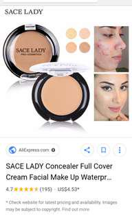 Sace Lady Full Body concealer warm natural a52