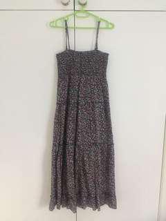 Purple floral maxi dress