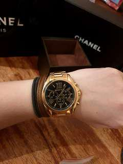 ✅Authentic MICHAEL KORS Gold Black Watch