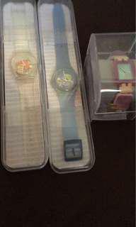 swatch ori,, jam warna warni 1.250.000,, jam transparant 1.000.000,, jam biru 1.000.000,, Ori semua yah,, lengkap,, beli langsung dijepang.. cek it out ❤️