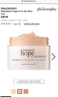 Philosophy Skin Tint