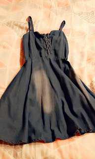 🚚 牛仔拉繩洋裝