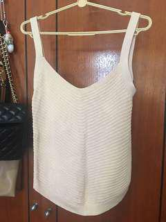 Uniqlo Knitted Top Pinky Beige L