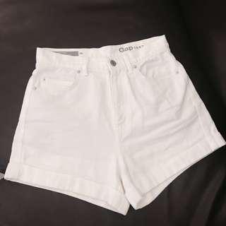 Gap 復古夏日高腰短褲 渡假 旅行 海邊 zara h&m top shop 可參考