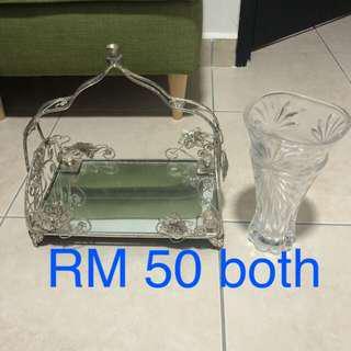 Ssf tray and vase