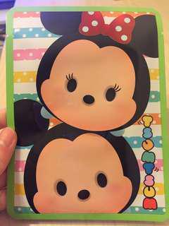 Disney Tsum Tsum Mickey Minnie aper mask with Argan oil補濕面膜