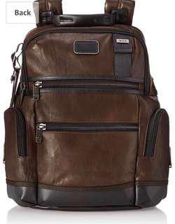Tumi Alpha Bravo Knox leather backpack