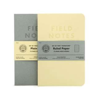 Field Notes - Signature (2-Pack Plain or Ruled)