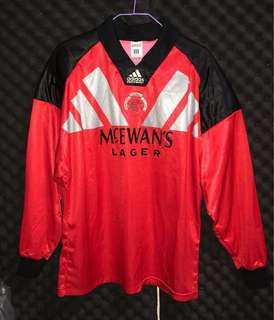 格拉斯哥流浪 92-94 龍門 goalkeeper Adidas equipment 蘇格蘭 Scotland Gerrard 謝拉特 soccer football shirt kit jersey 波衫 足球衣