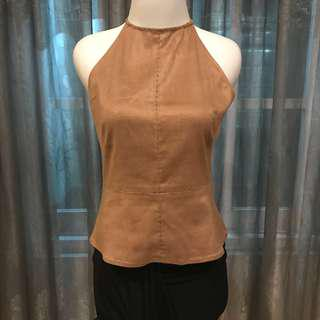 CHOCO SUEDE TANK