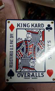 King Kard Enamel Porcelain Signage