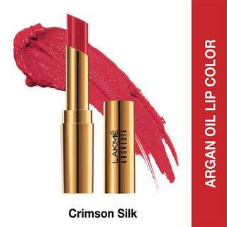 Lakme lipstick argan oil - crimson silk