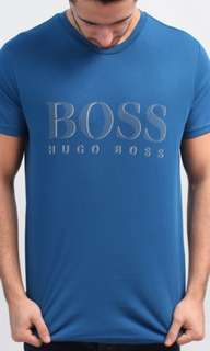 Hugo Boss Aqua Blue Men's Tee Shirt