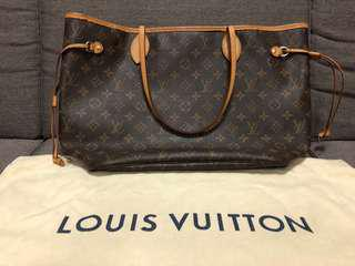 Louis Vuitton neverfull MM shoulder tote bag