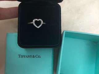 $1980 Tiffany pt950 鉑金碎鑽石 戒指