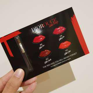 Authentic Dior Rouge Lip Card