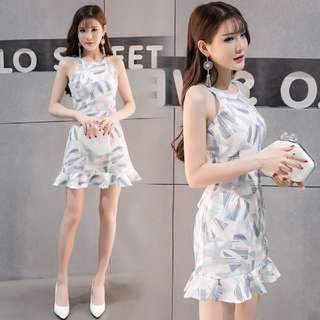 Pastel Neck Collar Dress
