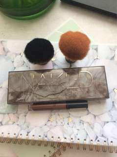 Brushes and makeup
