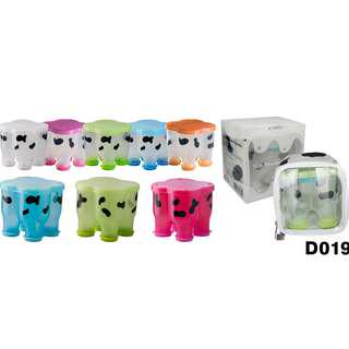 Basilic milk powder dispenser (cow shape - 4 compartments with bags) - D019