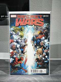 Secret Wars #1 Incentive Jim Cheung Signed Variant