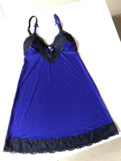 La Senza sexy chemise with lace trim and adjustable straps - BNWT
