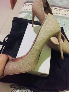 ZARA WOMAN Gold Heels shoes