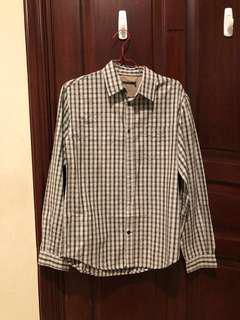 Reprice French connection checkered shirt size S