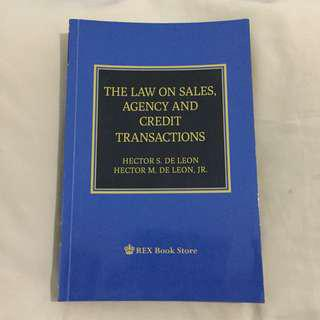 Law on Sales, Agency and Credit Transactions (De Leon)