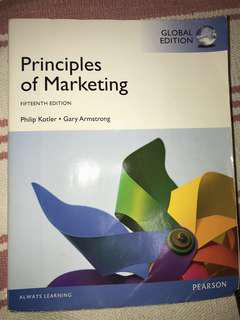 Principles of Marketing Textbook - Pearson | Good Condition