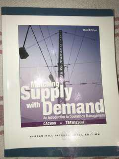 Matching Supply with Demand Textbook - McGraw Hill | Good Condition