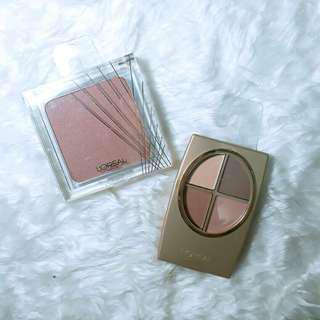 L'Oreal Blush + Eyeshadow 'Rose' Bundle