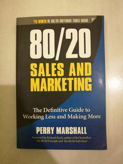 80/20 Sales and Marketing (LIKE NEW)